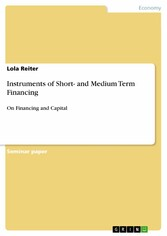 Instruments of Short- and Medium Term Financing - On Financing and Capital